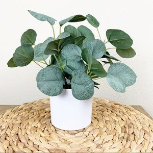 Project 62 table top faux plant white planter